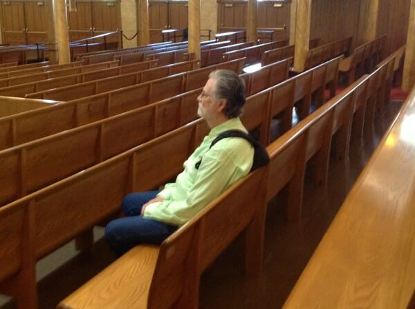 Mark In A Pew Of The Mormon Tabernacle