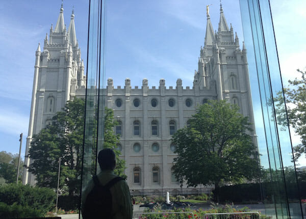 Salt Lake City temple seen from the South Visitor Center
