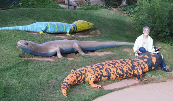 Mark With Lizards In Red Butte Garden