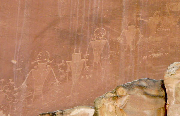 Petroglyphs near the Fremont River