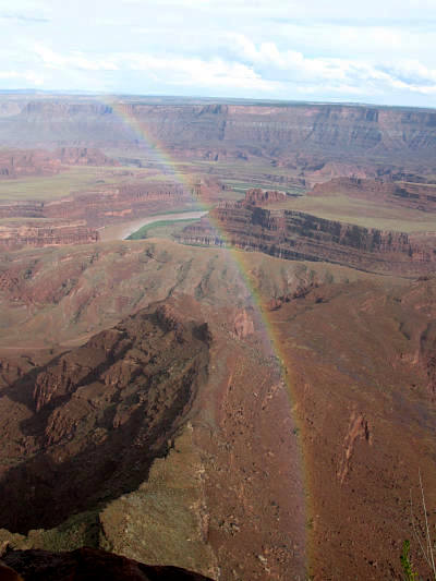 Rainbow over Colorado River from Dead Horse State Park