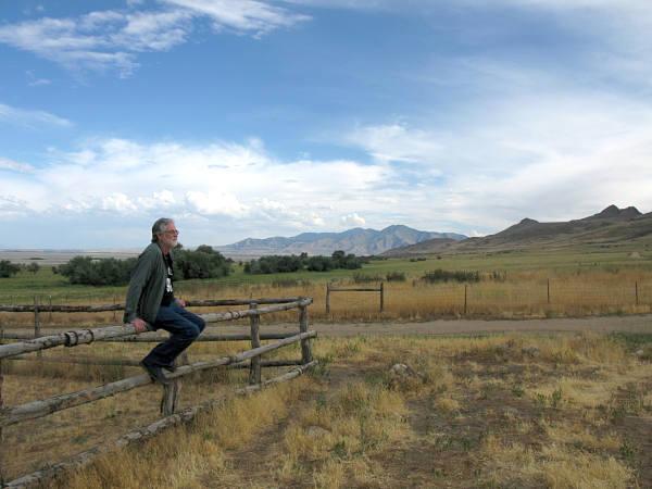 Mark Sitting On Fence Fielding Garr Farm