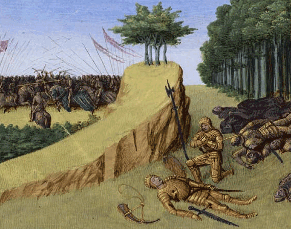 The Death Of Roland In A 15th Century Illumination