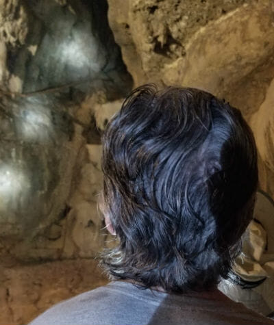 Mike Back Of Head In Cave