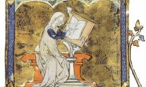 Marie De France Writing Full Image